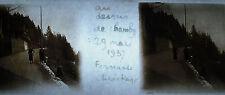 Plaque photo stéréoscopique photographie Chamby Montreux Suisse 29 mars 1937