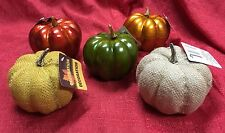 Set Of 5 Pumpkins Fall Harvest Thanksgiving Table Decorations Home Decor