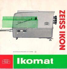 ZEISS IKON Ikomat - Gebrauchsanleitung - B1953