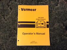 105400-L15 - A New Operator's Manual for a Vermeer SW-2500 Silage Wrapper