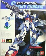 Brand New Bandai Anime Gundam Seed 1/144 #01 GAT-X105 Strike Gundam Model Kit