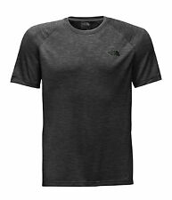 The North Face Men's AMBITION Wicking Running S/S T-Shirt Top TNF Black Heathr M