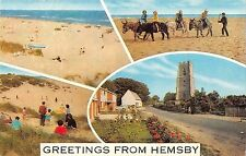 B101018 greetings from hemsby   uk 14x9cm
