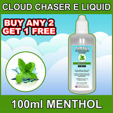 100ml Menthol E Liquid Cloud Chasing Vape Juice Max Sub Ohm E Juice Shisha UK