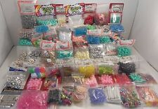 Over 6 Pounds Lot of Acrylic Charms, Pony, Beads, Kids Crafts Jewelry Making