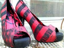 Abbey Dawn RockStar Avril Lavigne Women's  Black/Red Heels 9 All Categories
