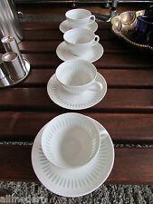 allmodern * 4 x CUP+SAUCER Friedl Holzer-Kjellberg ARABIA Rice Porcelain Finland