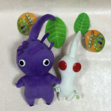 "NEW set of 2 PIKMIN 5.5"" White 9"" Purple Leaf STUFFED PLUSH DOLL Stuffed Animal"