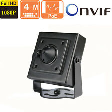 4MP HD POE Pinhole Hidden IP Camera ONVIF 2.4 1080p 3.7mm Camera CCTV