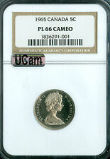 1965 CANADA 5 CENTS NGC MAC PL66 UCam ULTRA  CAMEO FINEST GRADED RARE 6291 *