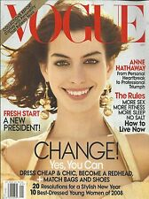 Vogue magazine Anne Hathaway Barack and Michelle Obama Collections Fashion