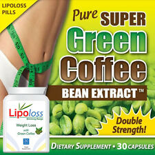 PURE GREEN COFFEE BEAN PILL - LIPOLOSS WEIGHT LOSS MAX STRENGTH EXTREME FAT LOSS
