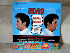 ELVIS PRESLEY~DOUBLE TROUBLE~ RARE~STEREO~LSP-3787~RCA~  ~ LP