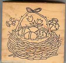 Great Impressions Rubber Stamp H62 Basket  of Decorated Eggs, Easter  S12