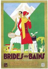 CPP126 CARTE POSTALE publicité BRIDES LES BAINS SAVOIE GOLF TENNIS par L Benigni