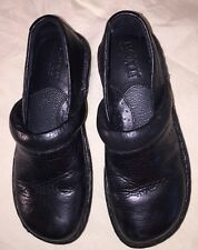 Little Girls US Size 13 Born Toby Black Pebbled  Leather Slip On Shoes Clogs