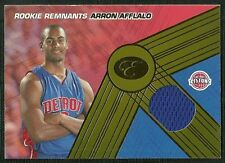 ARRON AFFLALO 07-08 BOWMAN ELEVATION ROOKIE REMNANTS JERSEY 43/49 DETROIT PISTON