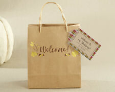 96 Personalized Gold Foil Welcome Wedding Favor Bags