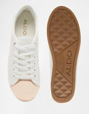 ALDO Rafa White Metal Toe Cap Sneakers - Size US 6.5/ EU 37