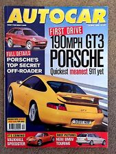 AUTOCAR MAGAZINE 19-MAY-99 - Porsche 911 GT3, Honda Civic VTi coupe, BMW 328 Ci