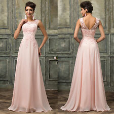 PLUS SIZE Long Wedding Gown Evening Formal Masquerade Bridesmaid Maxi Prom Dress
