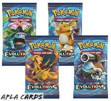 Pokemon Cards XY-12 Evolutions Sealed Booster Packs (X4) - 10 Cards Per Pack