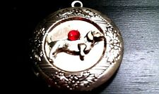 DOXIE DACHSHUND DOG PHOTO LOCKET, Sterling Silver 925 Chain Necklace pet animal
