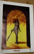Dawn Angel Slayer print - Joseph Michael Linsner LTD Lithograph - Joe - Cry for