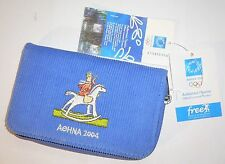 2004 Olympic Games Athens Greece Mascot Athena and Phevos WALLET with tags No1