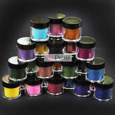 24 Metal Shiny Glitter Acrylic UV Gel Polish DIY Kit Manicure Powder Nail Art