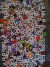 JOB LOT 520 MIXED CUBE ALPHABET LETTER BEADS (20 of each letter of alphabet)