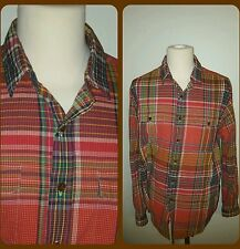 RALPH LAUREN GENUINE DOUBLE POCKET INDIAN MADRAS CASUAL SHIRT XL, NWOT