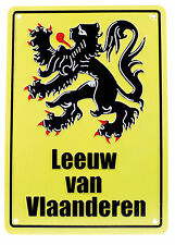 New Leeuw Van Vlaanderen (or Lion Of Flanders) Replica Road Sign free P&P