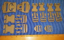 NEW - US Military ILBE Main Pack Buckle Repair Kit, ITW Coyote Tan, Backpack