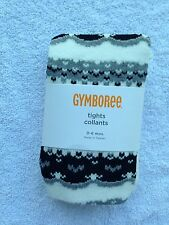 NWT Gymboree baby girl tights 0-6 months black white Holiday tights