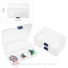Plastic Storage Organizer 3 Piece 5 Compartment Beading Craft Findings Jewelry