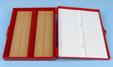 100 PLACE CORK LINED MICROSCOPE SLIDE BOX
