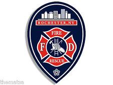 """ROCHESTER NEW YORK  FIRE RESCUE 4"""" BUMPER HELMET DECAL STICKER USA MADE"""
