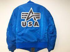 raro Alpha Chaqueta piloto USA pequeña azul MX 1 de 1996 original usado