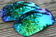 Mirrored Green Blue Polarized Replacement Sunglass Lenses for Oakley X Squared