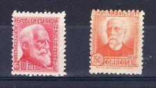 Spain 1935 30c and 1932 50c UM