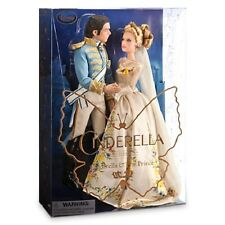 DISNEY CINDERELLA AND THE PRINCE LIVE ACTION WEDDING DOLL SET--NEW
