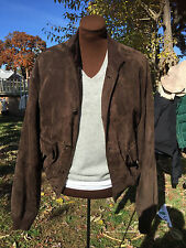 MEN'S BORRELLI NAPOLI BOMBER SUEDE LEATHER  JACKET 40 / 50 MEDIUM