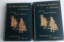 1895 LETTERS FROM SIR CHARLES GRANDISON by RICHARDSON Vols 1 & 2.  G. Saintsbury