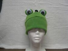 Fleece Frog Hat  Pick your own solid colors NEW