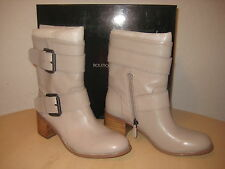 Boutique 9 Shoes Size 7.5 M Womens New Blaine Off White Leather Mid Calf Boots