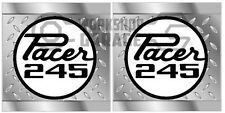 HEMI CHRYSLER VALIANT -Badge Style Stickers - Pacer 245 QUARTER checkerplate #14