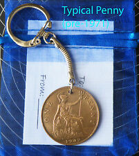 1928 Coin penny keyring 89th birthday gift 89 years old UK SELLER mh