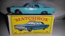 Matchbox 1-75 Modellauto RW No.31c Lincoln Continental 1964-70 mit OVP E4