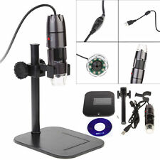 8LED Light 20-800X USB Digital Microscope Endoscope Magnifier Video Camera Stand